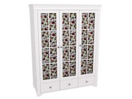 Шкаф 3-х дверный со стеклянными дверями Бейли изображение 1