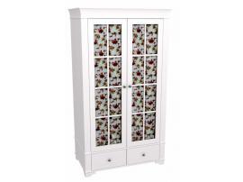 Шкаф 2-х дверный со стеклянными дверями Бейли изображение 1
