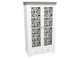 Шкаф 2-х дверный со стеклянными дверями Бейли изображение 2
