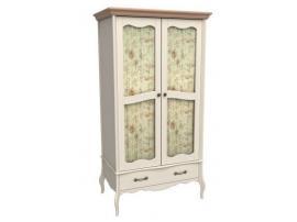 Шкаф 2-х дверный Лебо со стеклянными дверями (бежевый воск/браун) 60722 изображение 1