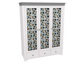 Шкаф 3-х дверный со стеклянными дверями Бейли изображение 2