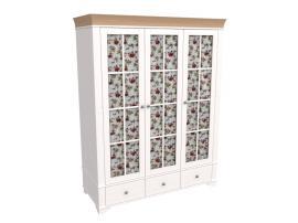 Шкаф 3-х дверный со стеклянными дверями Бейли изображение 3