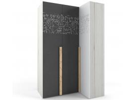Шкаф угловой НьюТон Грей (левый) изображение 1
