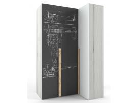 Шкаф угловой НьюТон Грей Авиатор (левый) изображение 1