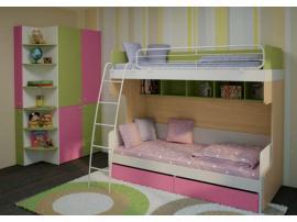 Двухъярусная кровать Солнечный город с лестницей 51k031 изображение 2