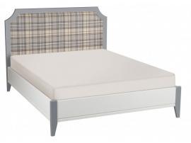 Кровать София белый лак/серый лак с мягкой спинкой изображение 1