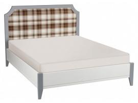 Кровать София белый лак/серый лак с мягкой спинкой изображение 3