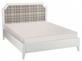 Кровать София белый лак с мягкой спинкой изображение 1
