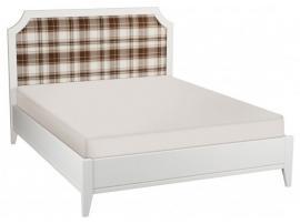 Кровать София белый лак с мягкой спинкой изображение 4