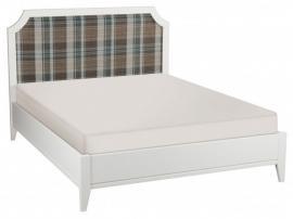 Кровать София белый лак с мягкой спинкой изображение 6