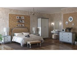 Кровать София белый лак/серый лак с мягкой спинкой изображение 13
