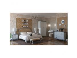 Кровать с мягкой спинкой каретная стяжка София 180х200 (серый лак) изображение 4