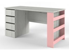 Стол с тумбой НьюТон розовый изображение 1