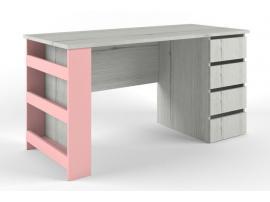 Стол с тумбой НьюТон розовый изображение 2