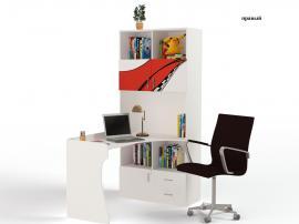 Стол - стеллаж La-Man (красная) изображение 2