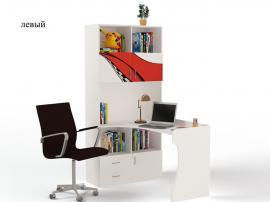 Стол - стеллаж La-Man (красная) изображение 1