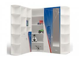 Стеллаж угловой к шкафу (белый) изображение 2