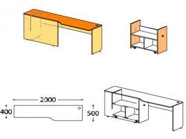 Стол с тумбой Силуэт (глянец) СФ-267514