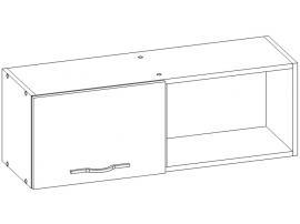 Шкаф навесной с нишей Teenager TM2B4