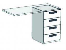 Тумба с 4 ящиками для компьютерного стола Junior TT-0335Q с рисунком
