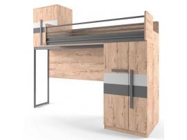 Кровать-чердак малая со сплошным ограждением Твист Лофт изображение 2