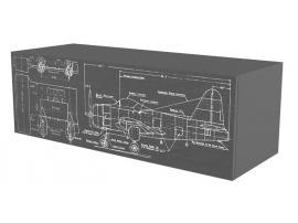 Тумба навесная НьюТон Грей Авиатор изображение 3