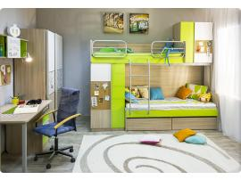 Кровать верхняя Твист без лестницы со сплошным ограждением изображение 3