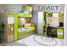 Кровать верхняя Твист без лестницы со сплошным ограждением изображение 2