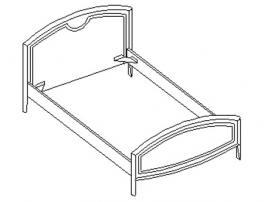 Кровать под матрас 120*200 20.452 изображение 1