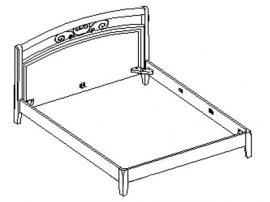 Кровать под матрас 160*200 20.434 изображение 1