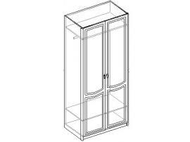 Шкаф для одежды 2-х дверный. 20.030