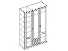 Шкаф для одежды 3-х дверный с 2 ящиками. 20.142