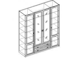 Шкаф для одежды 4-х дверный с 2 ящиками. 20.150