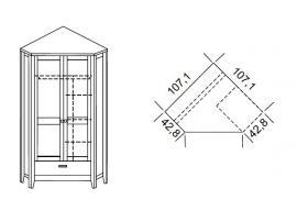 Шкаф угловой Сиело изображение 2