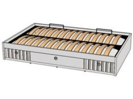 Кровать отдельностоящая с 3-мя ящиками и подъемным механизмом VBT02Q Velvet
