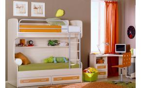 Кровать двухъярусная 2ящ. Катрин