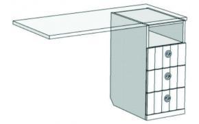 Тумба для компьютерного стола с 3-мя ящиками VT2-35Q Velvet