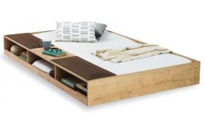 Выдвижная кровать с полками Natura (1308)