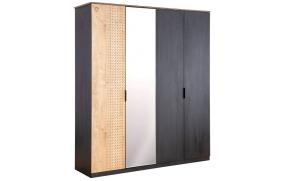 Шкаф 4-х дверный Black (1005)