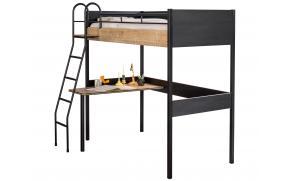 Кровать чердак Black 90x190 (1402)