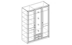 Шкаф для одежды 3-х дверный с 2 ящиками 21.140