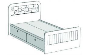 Кровать отдельностоящая с 2-мя ящиками VB3-10Q Velvet