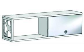Шкаф навесной с зеркальным фасадом и открытой полкой с декоративной вставкой VP3-120 Velvet