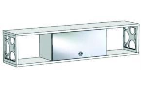 Шкаф навесной с зеркальным фасадом и открытыми полками с декоративными вставками VP4-180 Velvet
