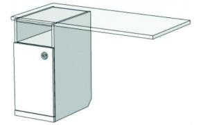 Тумба однодверная для компьютерного стола VT1-40 Velvet