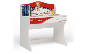 Стол без надстройки La-Man (красная)