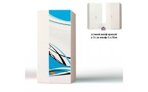 Шкаф угловой La-Man к 2-х дверному шкафу (продолжение рисунка)