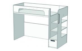 Кровать с ящиком 2-ой ярус Junior BR-02Q
