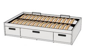 Кровать с декоративной планкой BTD-2Q