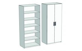 Шкаф 2-дверный с полками Junior CL-01, CLH-01